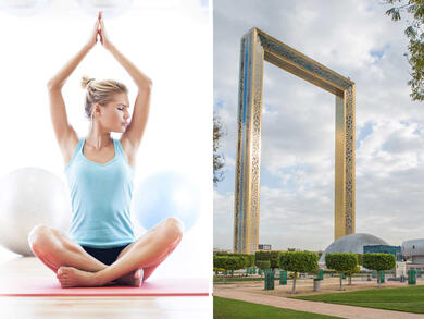 Try yoga 150m up in The Dubai Frame