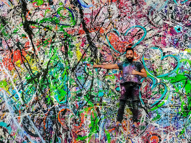 Artist Sacha Jafri's world record-breaking painting set to raise more than $30 million for charity