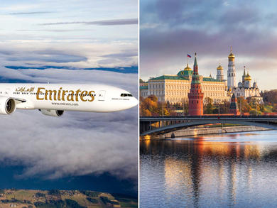Dubai's Emirates Airlines resumes A380 flights to Moscow