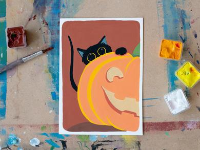 Kids can sign up to a Halloween art programme at Dubai's thejamjar