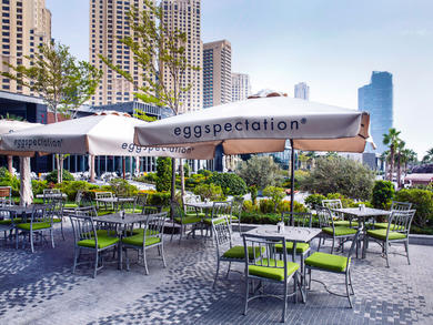 The terrace at eggspectation is now open for families in Dubai