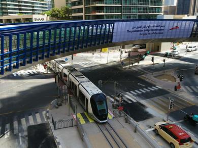 A brand-new four-way footbridge has opened in Dubai Marina