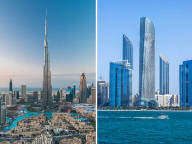 Abu Dhabi and Dubai named the top financial cities in the Middle East
