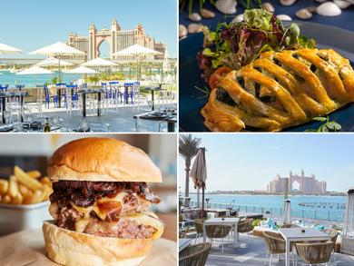 Restaurants overlooking The Palm Fountain, Dubai